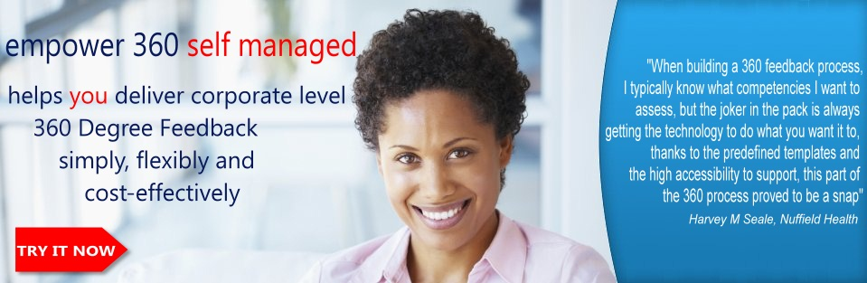 Register for a demonstration of empower 360 Degree Feedback Self Managed
